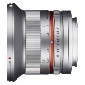 Samyang 12mm f/2,0 (APS C) Canon M sølv